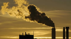 steam pollution smoke smog. atmosphere climate. energy. industrial industry - stock footage
