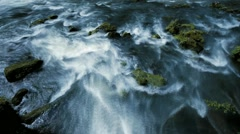 Waterfall river green nature Stock Footage