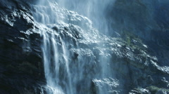 Epic waterfall background. spring water. source. fresh pristine clean.waterfalls Stock Footage