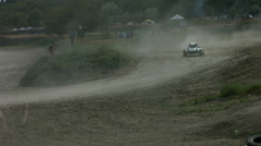 Motor Rally on the Buggy Off Road. Participants of the Rally Are Passing a Turn Stock Footage