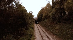 retro vintage background of old nostalgic steam train locomotive - stock footage