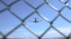airplane landing. airborne. aircraft. aviation. - stock footage