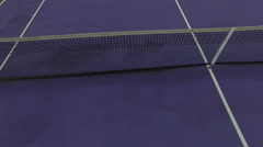 Low Flying Aerial Over Tennis Court Stock Footage