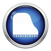 Grand piano icon Stock Illustration