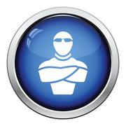Night club security icon - stock illustration