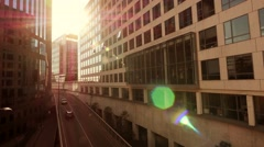 modern office building. city urban. real estate. business district - stock footage