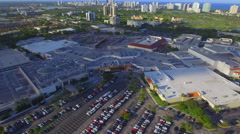 Aventura Mall Florida aerial video Stock Footage