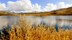 Mountain lake scenery landscape panorama. nobody Stock Footage