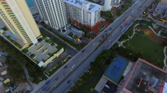 Aerial video Sunny Isles Beach reveal sunset - stock footage