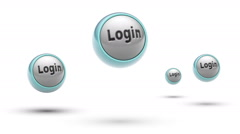 Login. Looping. Alpha channel. Stock Footage