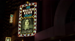 The Walter Kerr Theater advertising for The Crucible 4k Stock Footage