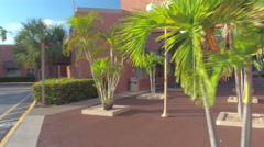 Old shopping center in Aventura Stock Footage