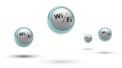 Wi-Fi. Looping. Alpha channel. - stock footage