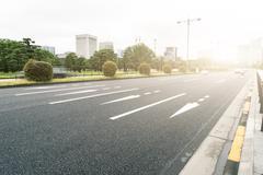 Traffic on city street in morning in tokyo japan Kuvituskuvat