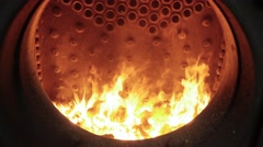 Fire oven. steam engine locomotive train. historical transportation background Stock Footage