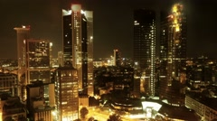 Real estate. city urban skyline. time lapse. night lights Stock Footage