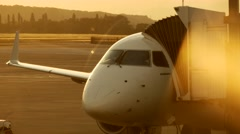 Airport airplane. travel traveling. transportation. aviation background Stock Footage
