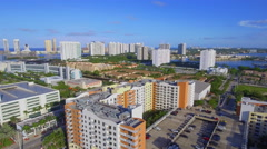 Aerial video City of Aventura Florida Stock Footage