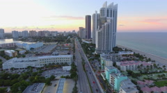 Helicopter tour Sunny Isles Beach Stock Footage