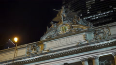 Entrance to Grand Central Terminal on 42nd Street New York City 4k Stock Footage