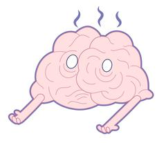 Am I alive, Brain collection Stock Illustration
