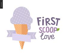 First scoop love - stock illustration