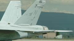 F/A-18 Hornet Jet Fighter testing Wing Flap aeronautics Stock Footage