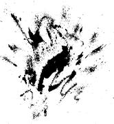 Abstract ink drops background. Black and white vector grunge texture. - stock illustration