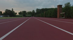 Aerial of Sports Running Track Stock Footage