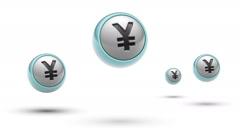 Yen. Looping. Alpha channel. Stock Footage