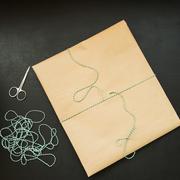 Gift packing in kraft Stock Photos