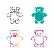 Vector images of teddy bear on a white background., Vector teddy bear for you - stock illustration