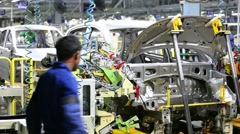 Car Manufacturing unit - stock footage