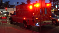 Emergency vehicle on street. - stock footage