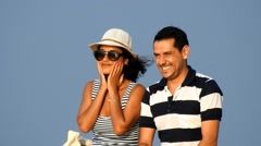 Happy Married Couple On Vacation Stock Footage