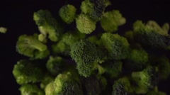 Green broccoli florets Stock Footage