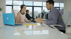 4K Business manager having angry discussion with employee for underperformance Stock Footage