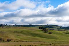 Australian outback landscape on sunny day Stock Photos