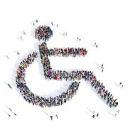 People disabled person medicine 3d Stock Illustration