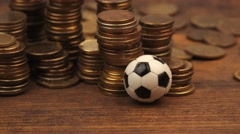 Bet on soccer game results Stock Footage