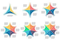 Linear infographics set. Diagrams for presentation. Stock Illustration