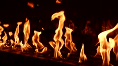 Close up of fire at night Stock Footage