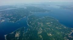 Aerial of Bainbridge Island Washington Stock Footage
