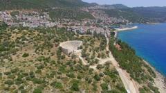 Ancient Greek Theater Kas Turkey Stock Footage