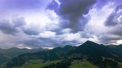 4K. There will be rain soon  in mountains. Time lapse without birds. Stock Footage