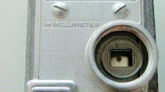 Old 16mm Film Camera Shutter without Lens Stock Footage