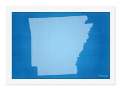 Arkansas on blueprint Stock Illustration
