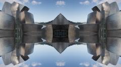 Guggenheim museuem art gallery bilbao spain basque Stock Footage