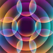 Abstract vibrant background with circles Stock Illustration