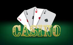 Poker cards. Vector Casino Piirros